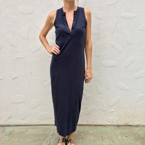 (James Perse) Split Neck Maxi Dress | Sz 1